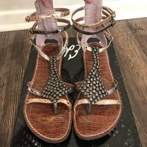 Sam Edelman Ginger Gladiator rose gold size 8.5